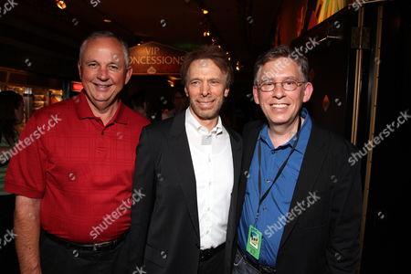 HOLLYWOOD, CA - JULY 19: Disney's Dick Cook, Producer Jerry Bruckheimer and Director Hoyt H. Yeatman Jr. at The World Premiere of Walt Disney Pictures' 'G-Force' on July 19, 2009 at the El Capitan Theatre in Hollywood, California.