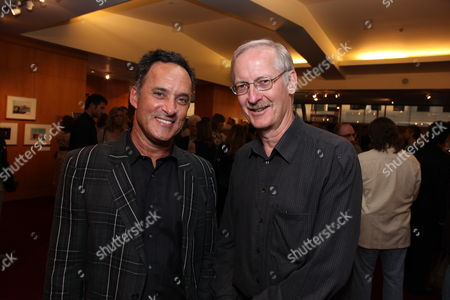Stock Picture of BEVERLY HILLS, CA - JULY 28: Animator/Director Mike Gabriel and Director John Musker at the 14th Marc Davis Animation Celebrating Hayao Miyazaki on July 28, 2009 at the Academy of Motion Pictures Arts and Sciences in Beverly Hills, California.