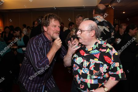 Stock Picture of BEVERLY HILLS, CA - JULY 28: Director/Writer Roger Allers and Animator/Director Eric Goldberg at the 14th Marc Davis Animation Celebrating Hayao Miyazaki on July 28, 2009 at the Academy of Motion Pictures Arts and Sciences in Beverly Hills, California.