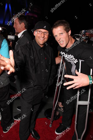 LOS ANGELES, CA - JULY 30: Director Steve Lawrence and Danny Way at ESPN and Disney's 'X Games 3D The Movie' presentation on July 30, 2009 at the Nokia Theatre in Los Angeles, California.