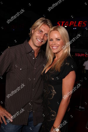 Stock Image of LOS ANGELES, CA - JULY 30: Cale Hulse and Gena Lee Nolin at ESPN and Disney's 'X Games 3D The Movie' presentation on July 30, 2009 at the Nokia Theatre in Los Angeles, California.