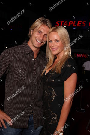 LOS ANGELES, CA - JULY 30: Cale Hulse and Gena Lee Nolin at ESPN and Disney's 'X Games 3D The Movie' presentation on July 30, 2009 at the Nokia Theatre in Los Angeles, California.