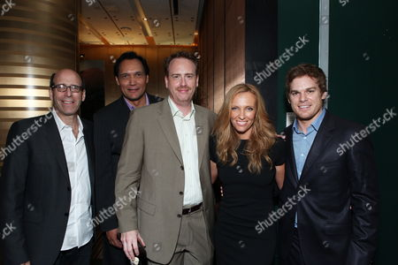 CENTURY CITY, CA - SEPTEMBER 19: **EXCLUSIVE** Showtime's Matt Blank, Jimmy Smits, Showtime's Robert Greenblatt, Toni Collette and Michael C. Hall at Showtime's Pre-Emmy Party on September 19, 2009 at Craft in Century City, California.
