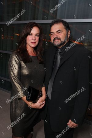 CENTURY CITY, CA - SEPTEMBER 19: **EXCLUSIVE** Elizabeth Perkins and Julio Macat at Showtime's Pre-Emmy Party on September 19, 2009 at Craft in Century City, California.