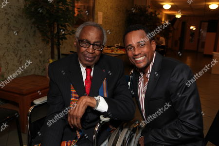 LOS ANGELES, CA - SEPTEMBER 22: **EXCLUSIVE** Robert Guillaume and Hill Harper at Artist for a new South Africa Jabulani Celebration on September 22, 2009 at Wiltern Theatre in Los Angeles, California.