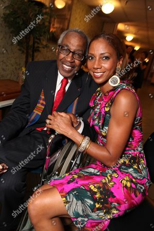 LOS ANGELES, CA - SEPTEMBER 22: **EXCLUSIVE** Robert Guillaume and Holly Robinson Peete at Artist for a new South Africa Jabulani Celebration on September 22, 2009 at Wiltern Theatre in Los Angeles, California.