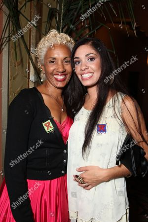 Stock Picture of LOS ANGELES, CA - SEPTEMBER 22: **EXCLUSIVE** Deborah Santana and Stella Santana at Artist for a new South Africa Jabulani Celebration on September 22, 2009 at Wiltern Theatre in Los Angeles, California.