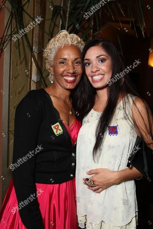 LOS ANGELES, CA - SEPTEMBER 22: **EXCLUSIVE** Deborah Santana and Stella Santana at Artist for a new South Africa Jabulani Celebration on September 22, 2009 at Wiltern Theatre in Los Angeles, California.