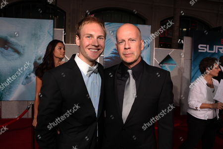 HOLLYWOOD, CA - SEPTEMBER 24: James Francis Ginty and Bruce Willis at the World Premiere of Touchstone Pictures' 'Surrogates' on September 24, 2009 at the El Capitan Theatre in Hollywood, California.