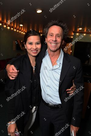 LOS ANGELES, CA - OCTOBER 08:**EXCLUSIVE** Chau-Giang Thi Nguyen and Brian Grazer at Jackie Singer's 'Does This Play Make Me Look Fat?' Play Opening on October 08, 2009 at The Complex in Los Angeles, California.