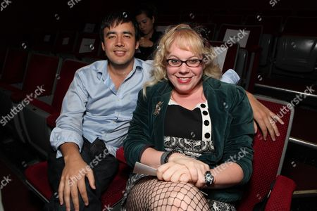 Stock Picture of LOS ANGELES, CA - OCTOBER 08:**EXCLUSIVE** Phinni Kiyomura and Kristen Vangsness at Jackie Singer's 'Does This Play Make Me Look Fat?' Play Opening on October 08, 2009 at The Complex in Los Angeles, California.