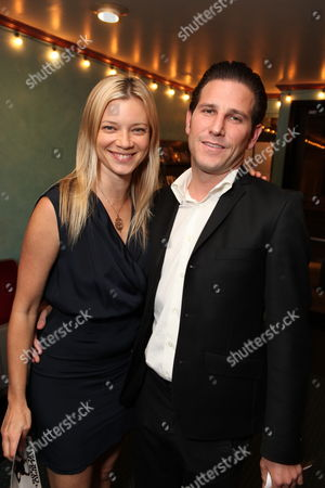 LOS ANGELES, CA - OCTOBER 08:**EXCLUSIVE** Amy Smart and Branden Williams at Jackie Singer's 'Does This Play Make Me Look Fat?' Play Opening on October 08, 2009 at The Complex in Los Angeles, California.