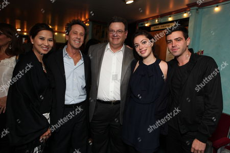 LOS ANGELES, CA - OCTOBER 08:**EXCLUSIVE** Chau-Giang Thi Nguyen, Brian Grazer, Attorney Marty Singer, Jackie Singer and Play Director Grant Singer at Jackie Singer's 'Does This Play Make Me Look Fat?' Play Opening on October 08, 2009 at The Complex in Los Angeles, California.