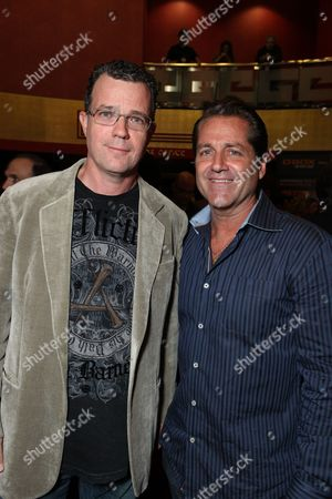 HOLLYWOOD, CA - OCTOBER 22: Producer Mark Burg and James Van Patten at Lionsgate's screening of 'Saw VI' on October 22, 2009 at The Mann's Chinese Six Theater in Hollywood, California.