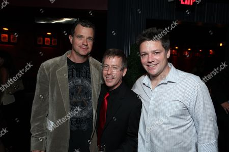 HOLLYWOOD, CA - OCTOBER 22: Producer Mark Burg, Director Kevin Greutert and Producer Oren Koules at Lionsgate's screening of 'Saw VI' on October 22, 2009 at The Mann's Chinese Six Theater in Hollywood, California.