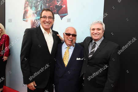 LOS ANGELES, CA - OCTOBER 27: Director/Producer Kenny Ortega, Co-Producer Frank DiLeo and AEG's Randy Phillips at Columbia Pictures' Premiere of Michael Jackson's 'This Is It' on October 27, 2009 at the Nokia Theatre L.A. Live in Los Angeles, California.