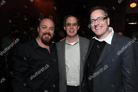 HOLLYWOOD, CA - OCTOBER 28: Writer/Director Troy Duffy, Sony's Steve Bersch and Producer Chris Brinker at the Los Angeles Premiere of 'The Boomdock Saints II: All Saints Day' on October 28, 2009 at the Arclight Theatre in Hollywood, California.