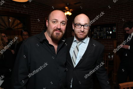 HOLLYWOOD, CA - OCTOBER 28: Writer/Director Troy Duffy and Sony's Scott Schooman at the Los Angeles Premiere of 'The Boomdock Saints II: All Saints Day' on October 28, 2009 at the Arclight Theatre in Hollywood, California.