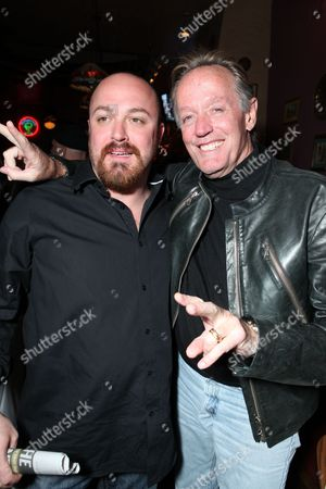 HOLLYWOOD, CA - OCTOBER 28: Writer/Director Troy Duffy and Peter Fonda at the Los Angeles Premiere of 'The Boomdock Saints II: All Saints Day' on October 28, 2009 at the Arclight Theatre in Hollywood, California.