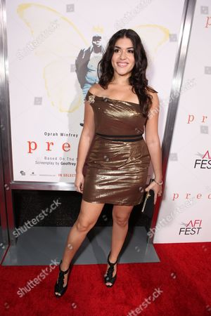 Stock Photo of HOLLYWOOD, CA - NOVEMBER 01: Stephanie Andujar at Lionsgate Los Angeles Premiere of 'Precious' at the AFI Fest on November 01, 2009 in Hollywood, California.