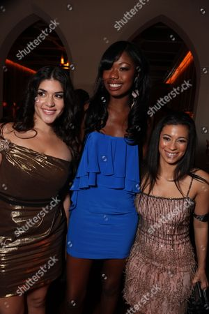 Stock Picture of HOLLYWOOD, CA - NOVEMBER 01: Stephanie Andujar, Xosha Roquemore and Angelic Zambrana at Lionsgate Los Angeles Premiere of 'Precious' at the AFI Fest on November 01, 2009 in Hollywood, California.
