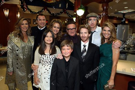 Stock Picture of HOLLYWOOD, CA - NOVEMBER 09: **EXCLUSIVE** Rita Wilson, John Travolta, Ella Bleu Travolta, Kelly Preston, Conner Rayburn, Robin Williams, Seth Green, Dax Shepard and Lori Loughlin at the World Premiere of Walt Disney Pictures 'Old Dogs' on November 09, 2009 at the El Capitan Theatre in Hollywood, California.