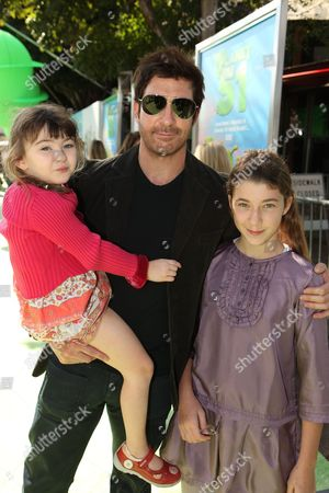 WESTWOOD, CA - NOVEMBER 14: Charlotte Rose McDermott, Dylan McDermott and Colette McDermott at the Premiere of Columbia Pictures 'Planet 51' on November 14, 2009 at the Mann Village Theatre in Westwood, California.