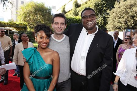 BURBANK, CA - NOVEMBER 15: Anika Noni Rose, Bruno Campos and Michael-Leon Wooley at the World Premiere of Disney's 'The Princess and The Frog' hosted by Walt Disney Studios on November 15, 2009 at Walt Disney Studios in Burbank, California.
