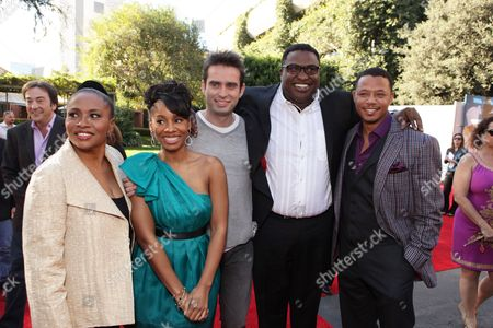 BURBANK, CA - NOVEMBER 15: Jenifer Lewis, Anika Noni Rose, Bruno Campos, Michael-Leon Wooley and Terrence Howard at the World Premiere of Disney's 'The Princess and The Frog' hosted by Walt Disney Studios on November 15, 2009 at Walt Disney Studios in Burbank, California.