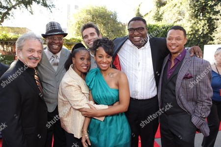 BURBANK, CA - NOVEMBER 15: Jim Cummings, Keith David, Jenifer Lewis, Bruno Campos, Anika Noni Rose, Michael-Leon Wooley and Terrence Howard at the World Premiere of Disney's 'The Princess and The Frog' hosted by Walt Disney Studios on November 15, 2009 at Walt Disney Studios in Burbank, California.