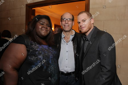 HANCOCK PARK, CA - DECEMBER 08: **EXCLUSIVE** Gabourey 'Gabby' Sidibe, Showtime's Matt Blank and Micheal C. Hall at Showtime's 4th Annual Holiday Soiree on December 08, 2009 at The Quincy Estate in Hancock Park, California.