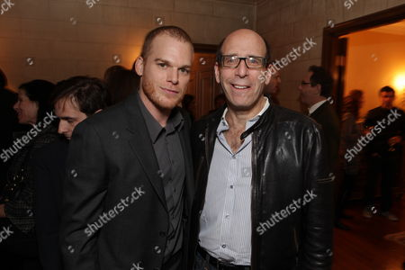 HANCOCK PARK, CA - DECEMBER 08: **EXCLUSIVE** Micheal C. Hall and Showtime's Matt Blank at Showtime's 4th Annual Holiday Soiree on December 08, 2009 at The Quincy Estate in Hancock Park, California.