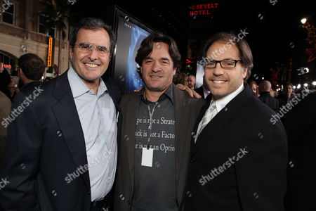 HOLLYWOOD, CA - DECEMBER 16: Peter Chernin, Fox' Tom Sella and Fox' Jeffrey Godsick at 20th Century Fox Los Angeles Premiere of 'Avatar' on December 16, 2009 at Mann's Chinese Theatre in Hollywood, California.