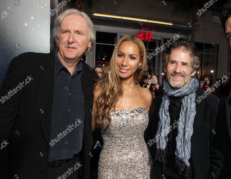 HOLLYWOOD, CA - DECEMBER 16: Director James Cameron, Leona Lewis and Composer James Horner at 20th Century Fox Los Angeles Premiere of 'Avatar' on December 16, 2009 at Mann's Chinese Theatre in Hollywood, California.