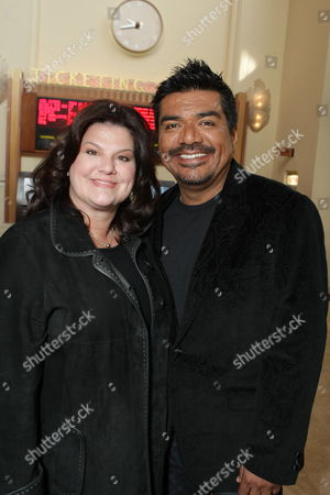 LOS ANGELES, CA - JANUARY 09: Ann Serrano and George Lopez at the World Premiere of Lionsgate 'The Spy Next Door' on January 09, 2010 at The Gorve in Los Angeles, California.