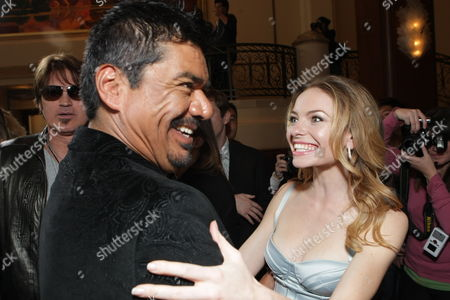 Stock Photo of LOS ANGELES, CA - JANUARY 09: George Lopez and Katherine Boecher at the World Premiere of Lionsgate 'The Spy Next Door' on January 09, 2010 at The Gorve in Los Angeles, California.