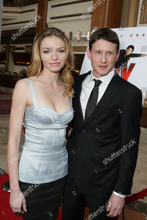 LOS ANGELES, CA - JANUARY 09: Katherine Boecher and Lukas Behnken at the World Premiere of Lionsgate 'The Spy Next Door' on January 09, 2010 at The Gorve in Los Angeles, California.