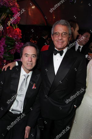 BEVERLY HILLS, CA - JANUARY 17: Universal's Rick Finkelstein and Universal's Ron Meyer at NBC/Universal/Focus Features Golden Globes party at the Beverly Hilton Hotel on January 17, 2010 in Beverly Hills, California.