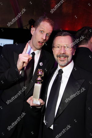 BEVERLY HILLS, CA - JANUARY 17: 'Up' Director Pete Docter and Disney/Pixar's Ed Catmull at NBC/Universal/Focus Features Golden Globes party at the Beverly Hilton Hotel on January 17, 2010 in Beverly Hills, California.