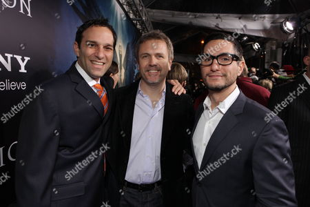 HOLLYWOOD, CA - JANUARY 21: Executive Producer Jonathan Roghbart, Composer John Frizzell and Co-Producer Marc Sadeghi at the World Premiere of Screen Gems 'Legion' at Cinerama Dome on January 21, 2010 in Hollywood, California.