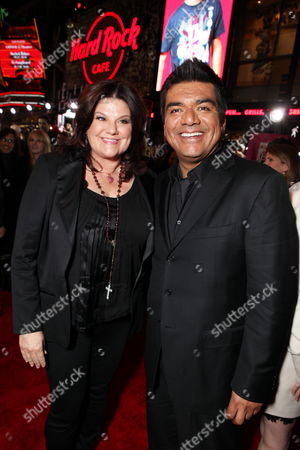 HOLLYWOOD, CA - FEBRUARY 08: Ann Serrano and George Lopez at Warner Bros. Pictures World Premiere of 'Valentine's Day' on February 08, 2010 at Grauman's Chinese Theatre in Hollywood, California.