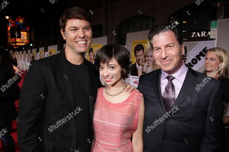 HOLLYWOOD, CA - JANUARY 27: Director Mark Steven Johnson, Kate Micucci and Producer Gary Foster at the World Premiere of Touchstone Pictures 'When In Rome' on January 27, 2010 at the El Capitan Theatre in Hollywood, California.