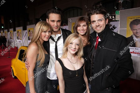 Stock Photo of HOLLYWOOD, CA - JANUARY 27: Cherilyn Wilson, Josh Nuncio, Alli Kinzel, Erin Way and Adam Chambers at the World Premiere of Touchstone Pictures 'When In Rome' on January 27, 2010 at the El Capitan Theatre in Hollywood, California.