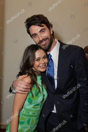 HOLLYWOOD, CA - JANUARY 27:**EXCLUSIVE** Alexis Dziena and Luca Calvani at the World Premiere of Touchstone Pictures 'When In Rome' on January 27, 2010 at the El Capitan Theatre in Hollywood, California.