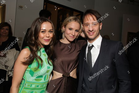 HOLLYWOOD, CA - JANUARY 27:**EXCLUSIVE** Alexis Dziena, Kristen Bell and Producer Andrew Panay at the World Premiere of Touchstone Pictures 'When In Rome' on January 27, 2010 at the El Capitan Theatre in Hollywood, California.