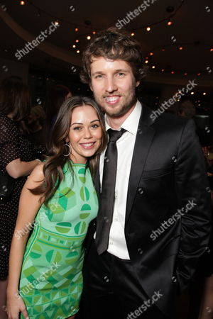 HOLLYWOOD, CA - JANUARY 27:**EXCLUSIVE** Alexis Dziena and Jon Heder at the World Premiere of Touchstone Pictures 'When In Rome' on January 27, 2010 at the El Capitan Theatre in Hollywood, California.