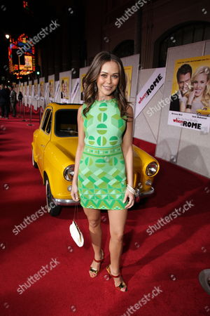 HOLLYWOOD, CA - JANUARY 27: Alexis Dziena at the World Premiere of Touchstone Pictures 'When In Rome' on January 27, 2010 at the El Capitan Theatre in Hollywood, California.
