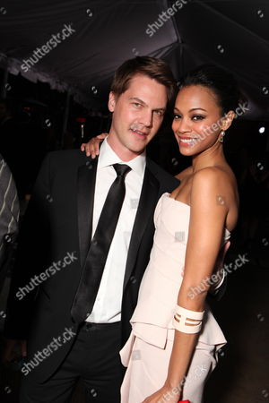 HOLLYWOOD, CA - MARCH 07: **EXCLUSIVE** Keith Britton and Zoe Saldana at 20th Century Fox - Fox Searchlight Pictures Oscar Party on March 07, 2010 at Boulevard 3 in Hollywood, California.