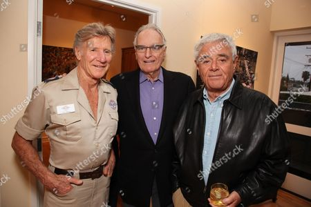 LOS ANGELES, CA - MARCH 24: **EXCLUSIVE** Stan Brock, Jerry Moss and Richard Donner at a recent reception at the LA Art House on March 24, 2010 hosted by Jerry Moss welcoming Stan Brock and RAM back to Los Angeles for the second clinic April 27 May 3, 2010.