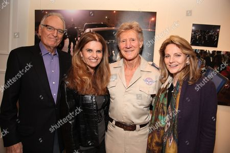 LOS ANGELES, CA - MARCH 24: **EXCLUSIVE** Jerry Moss, Maria Shriver, Stan Brock and Ann Moss at a recent reception at the LA Art House on March 24, 2010 hosted by Jerry Moss welcoming Stan Brock and RAM back to Los Angeles for the second clinic April 27 May 3, 2010.